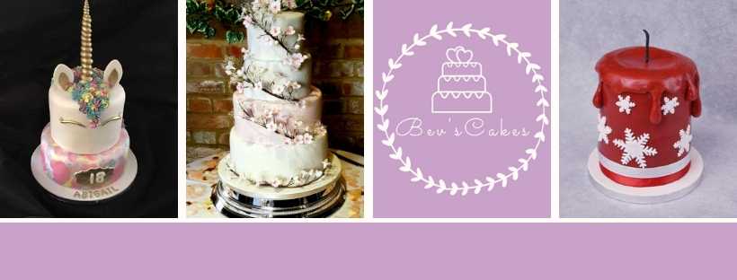 3 cakes and Bev's Cakes logo